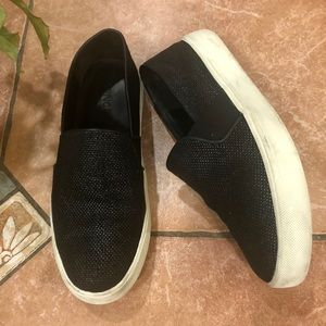 VINCE leather slip on's  size 8
